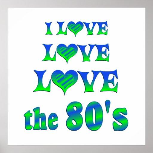 Amor 80s del amor poster