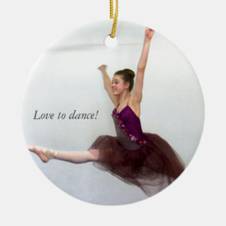 ¡Amor a bailar! Adorno Navideño Redondo De Cerámica