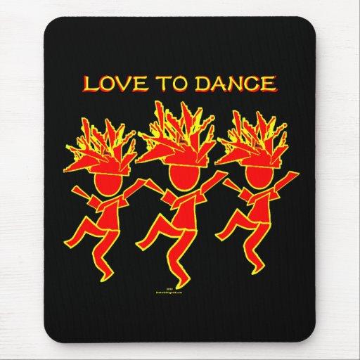 Amor a bailar alfombrilla de ratones
