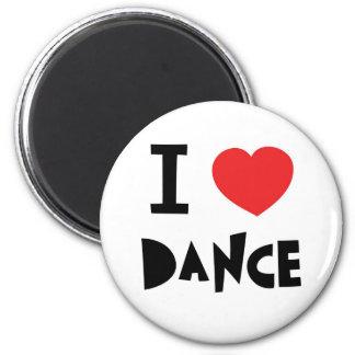Amor a bailar imán redondo 5 cm