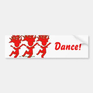 Amor a bailar pegatina para auto