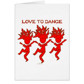 Amor a bailar tarjeta de felicitación