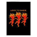 Amor a bailar tarjetas