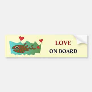Amor a bordo pegatina de parachoque