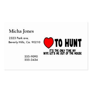 Amor a cazar tarjetas de visita