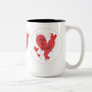 ¡Amor a cocinar! taza