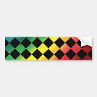 Amor a cuadros del arco iris pegatina de parachoque