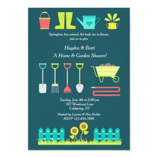 Amor a cultivar un huerto invitación de la ducha