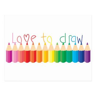Amor a dibujar postales
