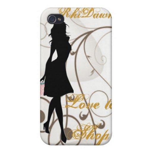 Amor a hacer compras caso de IPhone 4/4S iPhone 4 Funda