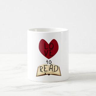 Amor a leer taza básica blanca