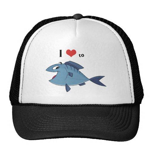 Amor a los pescados gorras