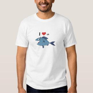 Amor a los pescados remera