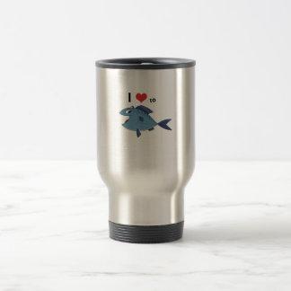 Amor a los pescados taza de café