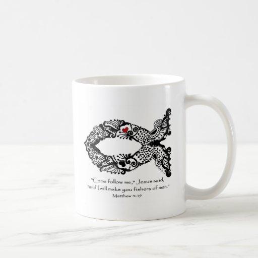 Amor a los pescados taza