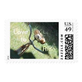 Amor a montar timbre postal