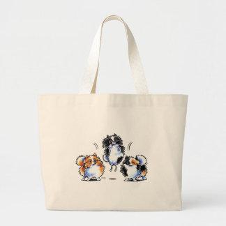 Amor a Parti Pomeranians Bolsa Tela Grande