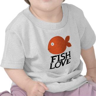 Amor a pescado camiseta