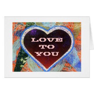 Amor a usted plantilla de la tarjeta