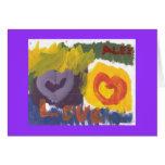 Amor abstracto tarjeta