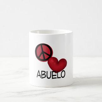 Amor Abuelo de la paz Tazas De Café