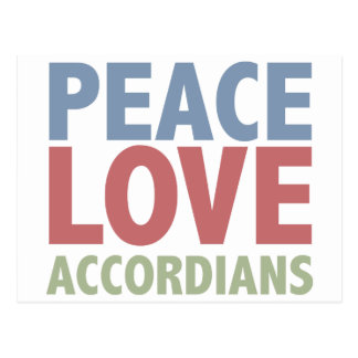 Amor Accordians de la paz Tarjeta Postal