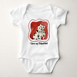 """""""Amor adolescente,"""" arte dálmata del perrito de Body Para Bebé"""