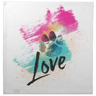 Amor adolescente artístico servilletas de papel