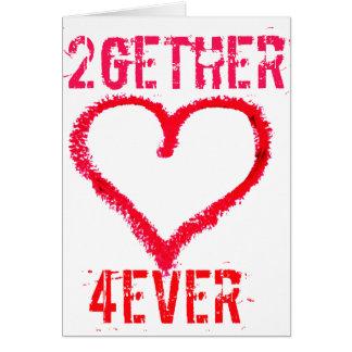 amor adolescente de 2gether 4ever el día de San Va Tarjeta De Felicitación