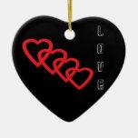 Amor Adorno De Cerámica En Forma De Corazón
