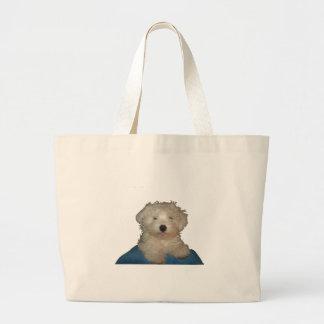 Amor afortunado del perrito bolsa de mano