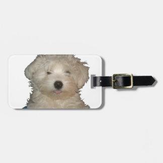 Amor afortunado del perrito etiquetas de maletas