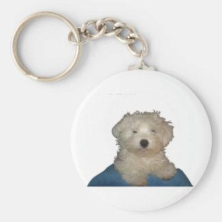 Amor afortunado del perrito llavero personalizado