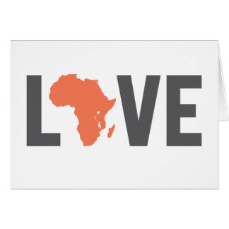 Amor África Notecards Tarjeta De Felicitación