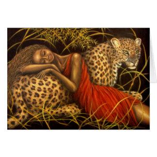 Amor africano tarjeta de felicitación