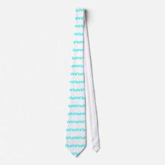 Amor ajustado en azul claro corbata