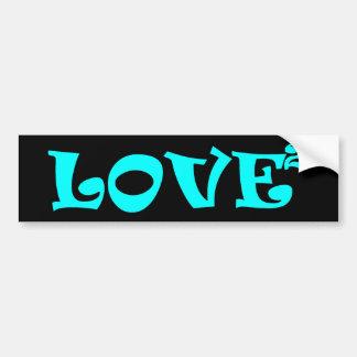 Amor ajustado en azul claro pegatina para auto