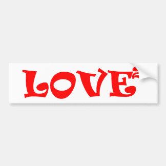 Amor ajustado en rojo pegatina para auto
