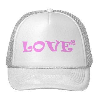 Amor ajustado en rosa gorras
