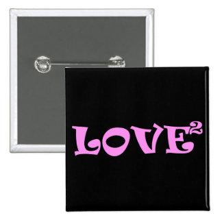 Amor ajustado en rosa pin cuadrado