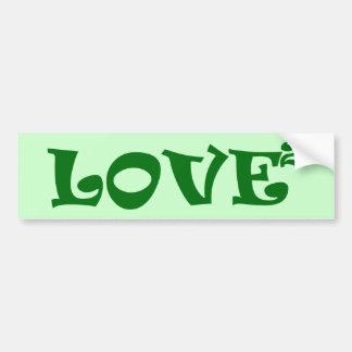 Amor ajustado en verde pegatina para auto