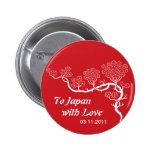 Amor al botón de la flor de cerezo de Japón Pins