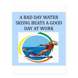 amor al esquí acuático tarjetas postales