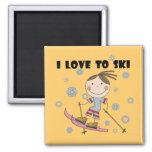 Amor al esquí - camisetas y regalos del chica imán para frigorifico