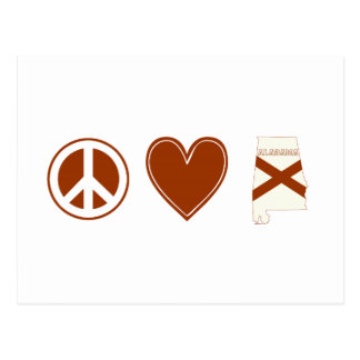 Amor Alabama de la paz Postal