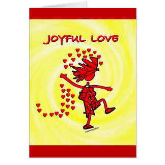 Amor alegre felicitación