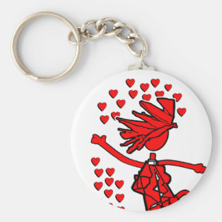 Amor alegre llavero redondo tipo pin