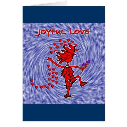 Amor alegre para siempre tarjeta de felicitación