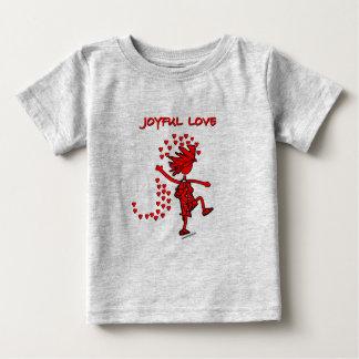 Amor alegre playera para bebé
