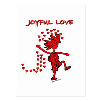 Amor alegre postal